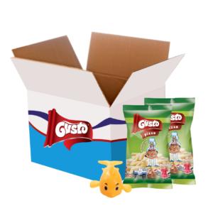 BOX Chrupek kukurydzianych z niespodzianką o smaku pizzy 30g