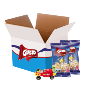 BOX Chrupek kukurydzianych z niespodzianką o smaku serowym 30g
